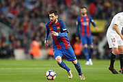 LIONEL MESSI of FC Barcelona during the Spanish championship Liga football match between FC Barcelona and Sevilla FC on April 5, 2017 at Camp Nou stadium in Barcelona, Spain. <br /> Photo Manuel Blondeau / AOP Press / ProSportsImages / DPPI