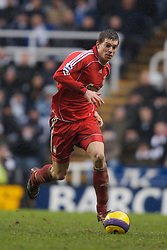 Newcastle, England - Saturday, February 10, 2007: Liverpool's Daniel Agger in action against Newcastle United during the Premiership match at St James' Park. (Pic by David Rawcliffe/Propaganda)