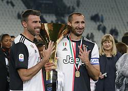 May 19, 2019 - Turin, ITA, Italy - Andrea Barzagli and Giorgio Chiellini during Serie A match between Juventus v Atalanta, in Turin, on May 19, 2019  (Credit Image: © Loris Roselli/NurPhoto via ZUMA Press)