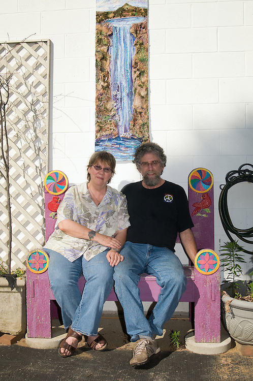 Diorama-ist Evan Leibowitz with his partner, painter Carol McLeod, photographed Monday, July 13, 2009 in Louisville, Ky., for The Highlander.(Photo by Brian Bohannon)