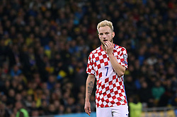 October 9, 2017 - Kiev, Ukraine - Croatia's Ivan Rakitic during the World Cup Group I qualifying soccer match between Ukraine and Croatia at the Olympic Stadium in Kiev. Ukraine, Monday, October 9, 2017  (Credit Image: © Danil Shamkin/NurPhoto via ZUMA Press)