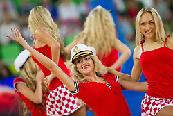 Cheerleaders Red Foxes perform during basketball match between National teams of Lithuania and Croatia in Semifinals at Day 17 of Eurobasket 2013 on September 20, 2013 in Arena Stozice, Ljubljana, Slovenia. (Photo by Vid Ponikvar / Sportida.com)