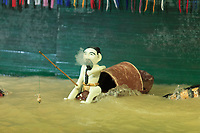 Traditional Vietnamese puppets at the Golden Dragon Water Puppet Theatre in Ho Chi Minh City, Vietnam