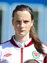 HAVERFORDWEST, WALES - Sunday, August 25, 2013: Wales' Alys Hinchcliffe before the Group A match of the UEFA Women's Under-19 Championship Wales 2013 tournament at the Bridge Meadow Stadium. (Pic by David Rawcliffe/Propaganda)