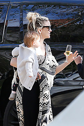 Kate Hudson is celebrating her birthday in a distancing way with friends driving through her drive way's house amid the cov19 lockdown in Pacific Palisades. 19 Apr 2020 Pictured: Kate Hudson. Photo credit: MEGA TheMegaAgency.com +1 888 505 6342