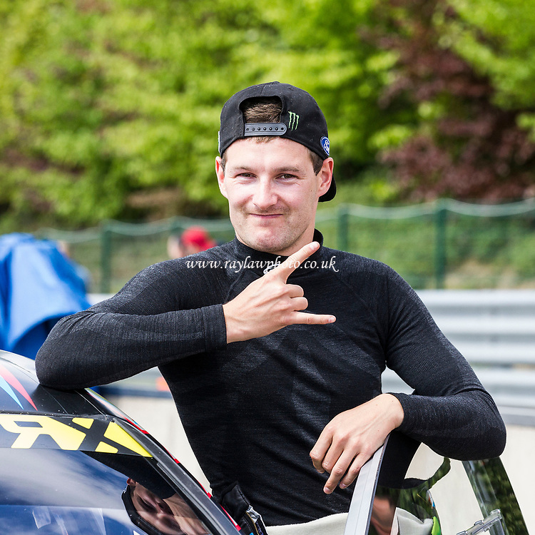 Andreas Bakkerud, Hoonigan Racing Division with trademark sign pre Q1 during WRX 2017 Round Four Qualifying at Circuit Jules Tacheny on 13th May 2017