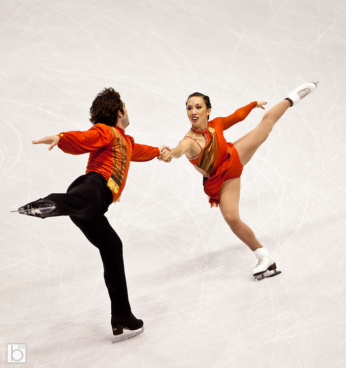 Nov 14, 2009: Keauna Mclaughlin and Rockne Brubaker of the United States compete in the Pairs Free Skate competition at Skate America 2009 at the Herb Brooks Arena in Lake Placid, N.Y. (ORDA Photo /Todd Bissonette)