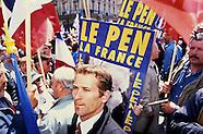 Présidentielles 2002 Jean-marie Le Pen est au premier tour le 21 avril 2002
