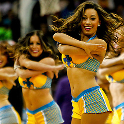 Dec 5, 2012; New Orleans, LA, USA; New Orleans Hornets Honeybees perform during the first half of a game against the Los Angeles Lakers at the New Orleans Arena.  Mandatory Credit: Derick E. Hingle-USA TODAY Sports