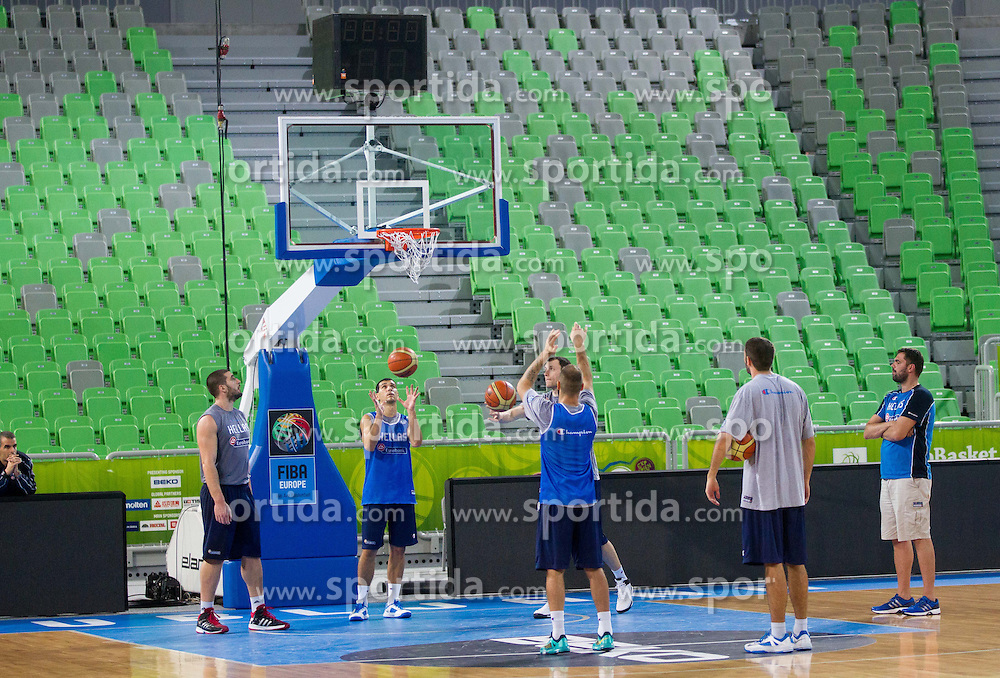 Players during training of National team of Greece before Round 2 at Day 7 of Eurobasket 2013 on September 10, 2013 in Arena Stozice, Ljubljana, Slovenia. (Photo by Vid Ponikvar / Sportida.com)