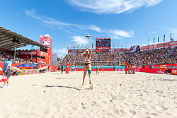 29.07.2017, Donauinsel, Wien, AUT, FIVB Beach Volleyball WM, Wien 2017, Damen, Gruppe L, im Bild Katharina Schützenhöfer (AUT) // Katharina Schützenhöfer of Austria during the women's group L match of 2017 FIVB Beach Volleyball World Championships at the Donauinsel in Wien, Austria on 2017/07/29. EXPA Pictures © 2017, PhotoCredit: EXPA/ Sebastian Pucher