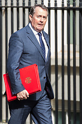London, UK. 30th April 2019. Liam Fox MP, Secretary of State for International Trade and President of the Board of Trade, arrives at 10 Downing Street for a Cabinet meeting.