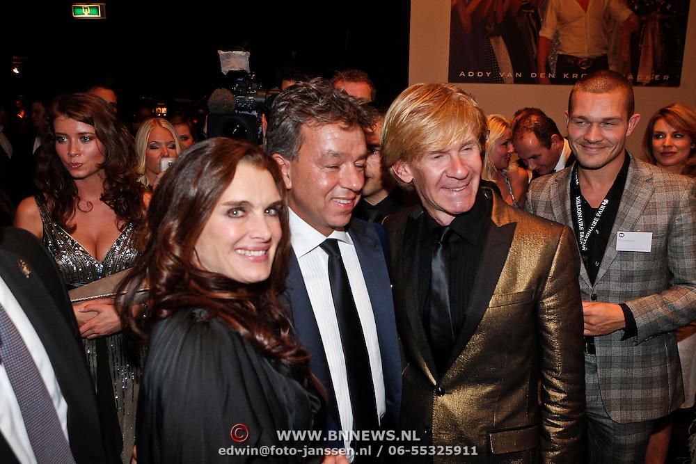 NLD/Amsterdam/20101209 - VIP avond Miljonairfair 2010, Brooke Shields en Addy van den Krommenacker