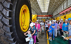 June 10, 2017 - Beijing, China - Citizens visit the CRRC Beijing Locomotive Co., Ltd. An open day activity was held at the 120-year-old state-owned corporation, attracting many citizens. The corporation was found in 1897, selling its railway products of locomotives and engineering machinery to customers at home and abroad. (Credit Image: © Li Xin/Xinhua via ZUMA Wire)