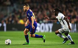 Jordi Alba of Barcelona takes on Victor Moses of Chelsea - Mandatory by-line: Matt McNulty/JMP - 14/03/2018 - FOOTBALL - Camp Nou - Barcelona, Catalonia - Barcelona v Chelsea - UEFA Champions League - Round of 16 Second Leg