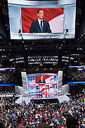 Koreans for Trump leader Dr. Lisa Shin addresses delegates on the final day of the Republican National Convention July 21, 2016 in Cleveland, Ohio.