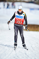 Schladming, Austria - 2017 March 20: Lovisa Danielsson from SO Sweden competes in Cross Country Race while Special Olympics World Winter Games Austria 2017 in Ramsau am Dachstein on March 20, 2017 in Schladming, Austria.<br /> <br /> Mandatory credit:<br /> Photo by © Adam Nurkiewicz / Mediasport<br /> <br /> Adam Nurkiewicz declares that he has no rights to the image of people at the photographs of his authorship.<br /> <br /> Picture also available in RAW (NEF) or TIFF format on special request.<br /> <br /> Any editorial, commercial or promotional use requires written permission from the author of image.<br /> <br /> Image can be used in the press when the method of use and the signature does not hurt people on the picture.