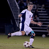 Michael Parrish controls the ball during Saturday's match against William and Mary. (Jason A. Frizzelle)