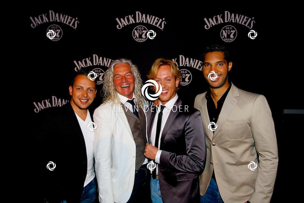 AMSTERDAM - In de Ziggo Dome is de eerste officiële Jack Daniel's bar in Europa geopend. Met op de foto  LA The Voices. Met de huidige leden Remko Harms, Richy Brown, Roy van den Akker en Peter William Strykes. FOTO LEVIN DEN BOER - PERSFOTO.NU