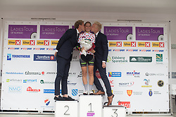 Cecile Ultrup Ludwig of Team BMS Birn retains the best climber's dotted jersey after the 97,1 km second stage of the 2016 Ladies' Tour of Norway women's road cycling race on August 13, 2016 between Mysen and Sarpsborg, Norway. (Photo by Balint Hamvas/Velofocus)
