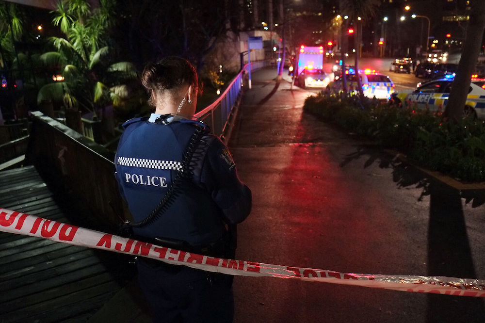 Police are reponding to the scene of a fatal shooting in Myers Park, Upper Queen Street, Auckland, Auckland, New Zealand, Sunsay August 02, 2015. Credit:SNPA / Bradley Ambrose