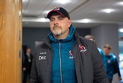Ulster Rugby head coach Dan McFarland arrives at the liberty stadium.Guinness PRO14, Liberty Stadium, Swansea, UK 15/02/2020<br /> Ospreys vs Ulster Rugby<br /> <br /> Mandatory Credit ©INPHO/Alex James