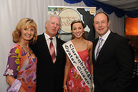Adi Roche Chernobyl Childrens Trust, MC  Ronan Collins, Festival Queen Claire Dillon and Brian Costigan Chairman at the Clarenbridge Oyster festival friday evening Fundraiser. photo:Andrew Downes