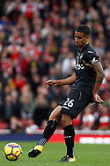 Kyle Naughton of Swansea City in action. Premier league match, Arsenal v Swansea city at the Emirates Stadium in London on Saturday 28th October 2017.<br /> pic by Steffan Bowen, Andrew Orchard sports photography.