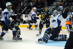 Action from Game 2 of the 2012 MasterCard Memorial Cup in Shawinigan, Quebec between the London Knights and Saint John Sea Dogs on Saturday May 19, 2012. Photo by Aaron Bell/CHL Images