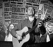 Dave Rogers.<br /> Singer, songwriter, playwright, and founder member of Banner Theatre.<br /> Birmingham, England, November 2004