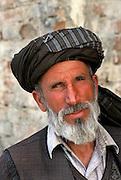 Portrait of Afghan man in turban, Kabul, Afghanistan. 2002
