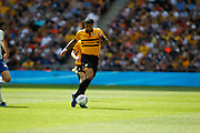 Newport County midfielder Joss Labadie (4) during the EFL Sky Bet League 2 Play Off Final match between Newport County and Tranmere Rovers at Wembley Stadium, London, England on 25 May 2019.