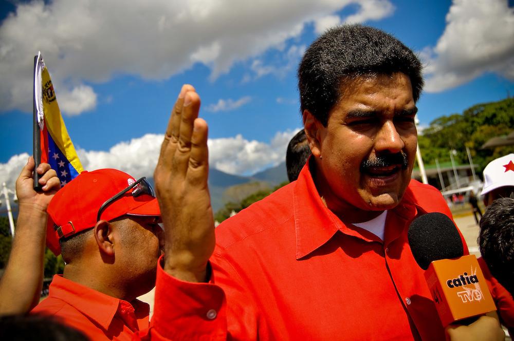FEBRUARY 4 DAY OF DIGNITY - VENEZUELA 2010 / 4 DE FEBRERO DIA DE LA DIGNIDAD - VENEZUELA 2010<br /> Foreign Minister of Venezuela Nicolas Maduro<br /> Photography by Aaron Sosa<br /> Caracas - Venezuela 2010<br /> (Copyright © Aaron Sosa)