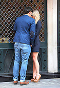 13.JULY.2011. LONDON<br /> <br /> CHLOE MADELEY AND SAM ATTWATER SHOW A PUBLIC DISPLAY OF AFFECTION WHILST HAVING A CIGARETTE OUTSIDE THE IVY RESTAURANT IN COVENT GARDEN. CHLOE WAS ALSO WEARING A SILVER BAND ON HER WEDDING FINGER!! ARE THEY ENGAGED?<br /> <br /> BYLINE: EDBIMAGEARCHIVE.COM<br /> <br /> *THIS IMAGE IS STRICTLY FOR UK NEWSPAPERS AND MAGAZINES ONLY*<br /> *FOR WORLD WIDE SALES AND WEB USE PLEASE CONTACT EDBIMAGEARCHIVE - 0208 954 5968*