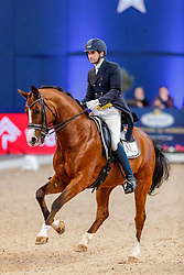 CSAKI Ferdinand (GER), Stevie Wonder M<br /> München - Munich Indoors 2019<br /> Preis der Liselott und Klaus Rheinberger Stiftung<br /> Grand Prix de Dressage (CDI4*) <br /> Wertungsprüfung MEGGLE Champion of Honour,<br /> Qualifikation für Grand Prix Special<br /> 22. November 2019<br /> © www.sportfotos-lafrentz.de/Stefan Lafrentz