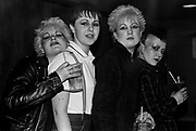 Punk and Skinhead girls at a gig. Hastings 1981