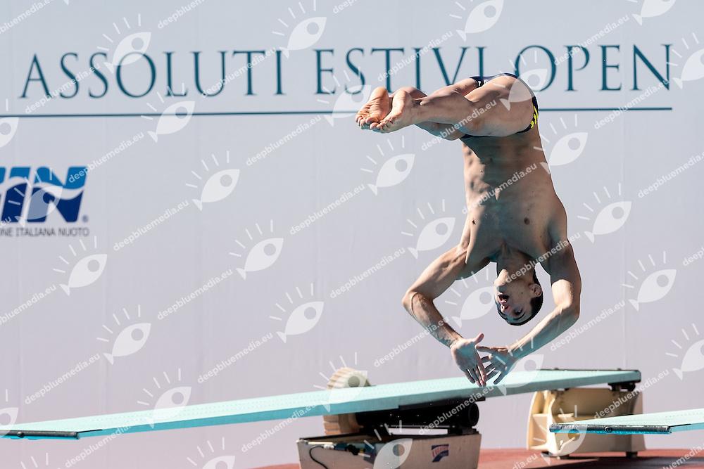 CIAMMARUGHI Giacomo Circolo Canottieri Aniene<br /> 1m springboard trampolino men<br /> Stadio del Nuoto, Roma<br /> FIN 2016 Campionati Italiani Open Assoluti Tuffi<br /> <br /> day 02 21-06-2016<br /> Photo Giorgio Scala/Deepbluemedia/Insidefoto