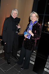 Left to right, BETTY JACKSON and JANE GORDON-CLARK at a private view of the V&A's exhibition Golden Spider Silk held at the Victoria & Albert museum, London on 24t January 2012.