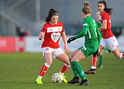 Carla Humphrey of Bristol City competes with Nicola Cousins of Yeovil Town Ladies - Mandatory by-line: Nizaam Jones/JMP - 27/01/2019 - FOOTBALL - Stoke Gifford Stadium - Bristol, England - Bristol City Women v Yeovil Town Ladies- FA Women's Super League 1