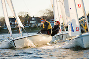 Sailing teams are an integral part of many high school athletic programs throughout Rhode Island.  This team racing event between North Kingstown and Sharon went late into the day as sailors competed in cool spring breezes.