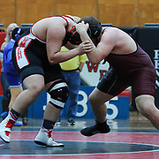 Concord Andrew Galazeski and William Penn Brandon Dooley grapple in a 285 pound bout during the Blue Hen Conference Wrestling Tournament Finals Saturday, Feb. 20, 2016 at William Penn High School in New Castle.