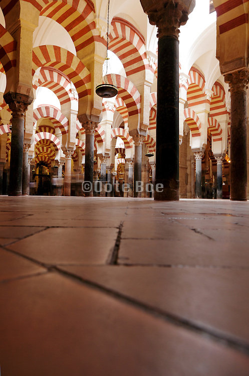 inside the Great Mosque - Cathedral Cordoba Spain