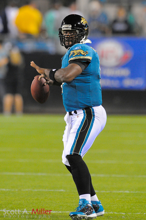 Jacksonville, FL, Dec. 18, 2008 ---  Jacksonville Jaguars quarterback David Garrard (9) during the Jags against the Indianapolis Colts at Jacksonville Municipal Stadium. ...©2008 Scott A. Miller