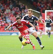 Dundee's Greg Stewart shuts down Aberdeen&rsquo;s Graeme Shinnie - Aberdeen v Dundee at Pittodrie<br /> - Ladbrokes Premiership<br /> <br />  - &copy; David Young - www.davidyoungphoto.co.uk - email: davidyoungphoto@gmail.com