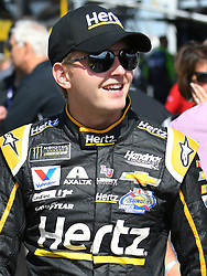 October 14, 2018 - Talladega, AL, U.S. - TALLADEGA, AL - OCTOBER 14: William Byron, Hendrick Motorsports, Chevrolet Camaro Hertz (24) on pit road before the 1000Bulbs.com 500 on October 14, 2018, at Talladega Superspeedway in Tallageda, AL.(Photo by Jeffrey Vest/Icon Sportswire) (Credit Image: © Jeffrey Vest/Icon SMI via ZUMA Press)