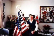 Bill Coleman, in his flat in Normandy in June 2004, American D-Day veteran. He died, aged 81, in July 2005.