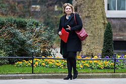 © Licensed to London News Pictures. 13/03/2018. London, UK. Secretary of State for Northern Ireland Karen Bradley on Downing Street for the Cabinet meeting. Photo credit: Rob Pinney/LNP