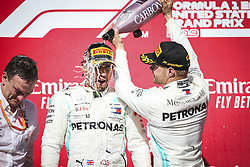November 3, 2019, Austin, United States of America: Motorsports: FIA Formula One World Championship 2019, Grand Prix of United States, ..James Allison (Mercedes AMG Petronas Motorsport), #44 Lewis Hamilton (GBR, Mercedes AMG Petronas Motorsport), #77 Valtteri Bottas (FIN, Mercedes AMG Petronas Motorsport) (Credit Image: © Hoch Zwei via ZUMA Wire)