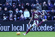 New signing Demetri Mitchell during the William Hill Scottish Cup 4th round match between Heart of Midlothian and Hibernian at Tynecastle Stadium, Gorgie, Scotland on 21 January 2018. Photo by Kevin Murray.