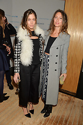 Left to right, sisters QUENTIN JONES and JEMIMA GOLDSMITH at the Louis Vuitton for Unicef Event #MAKEAPROMISE held at The Apartment, 17-20 New Bond Street, London on 14th January 2016.